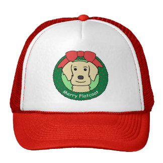 Flat-Coated Retriever Christmas Mesh Hat