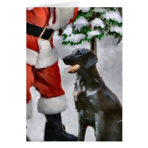 Flat-Coated Retriever Christmas Gifts Card