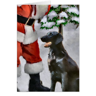 Flat-Coated Retriever Christmas Gifts Greeting Card