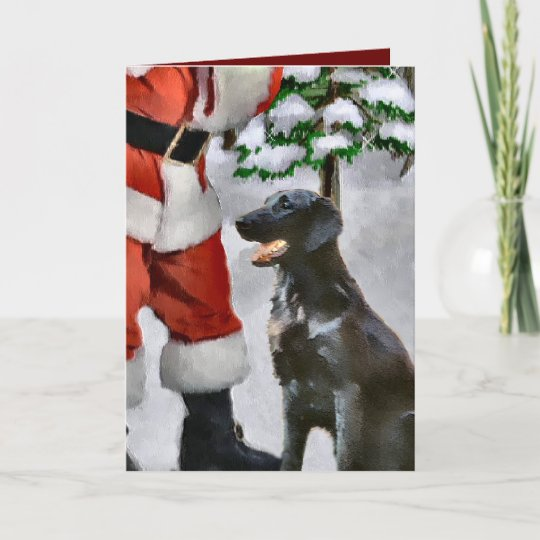 Black Dog Christmas Customised Card