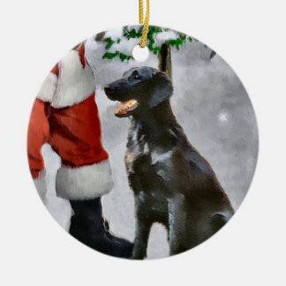 Flat-Coated Retriever Christmas Gifts Ornament
