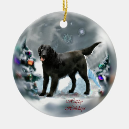 Flat-Coated Retriever Christmas Ornaments Gifts