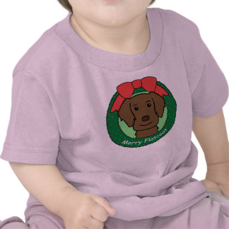 Flat-Coated Retriever Christmas T Shirt