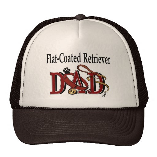 Flat-Coated Retriever Dad Gifts Mesh Hats