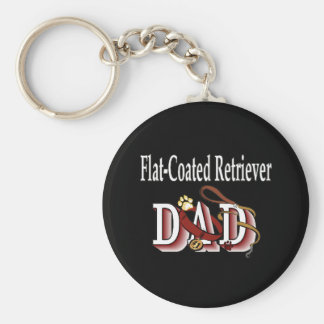 flat-coated retriever dad Keychain