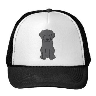 Flat Coated Retriever Dog Cartoon Trucker Hat