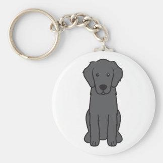 Flat Coated Retriever Dog Cartoon Keychains