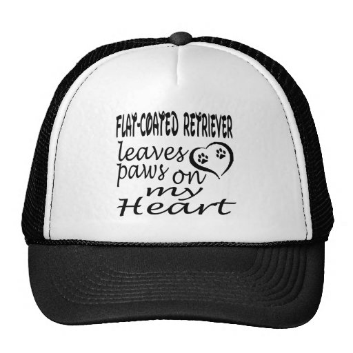 Flat-Coated Retriever Dog Leaves Paw On My Heart Hats