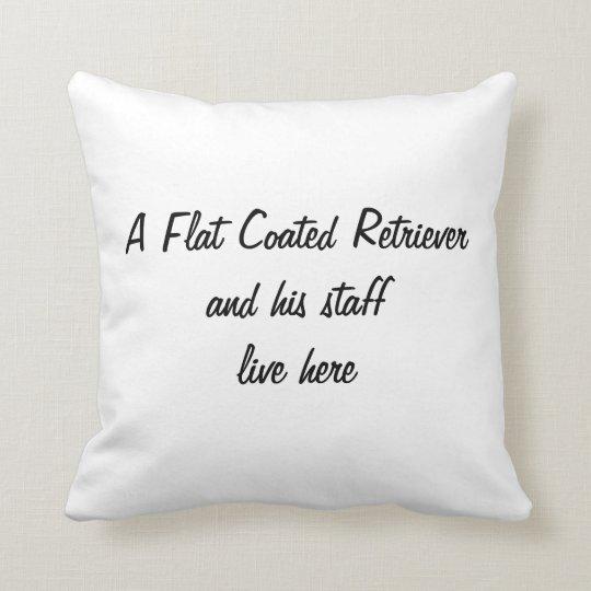Flat Coated Retriever dog photo cushion pillow