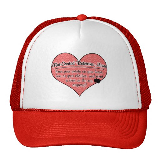 Flat-Coated Retriever Mixes Paw Prints Dog Humor Mesh Hat