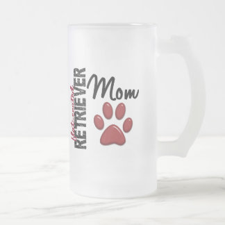Flat-Coated Retriever Mom 2 Frosted Glass Beer Mug