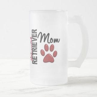 Flat-Coated Retriever Mom 2 Frosted Glass Mug