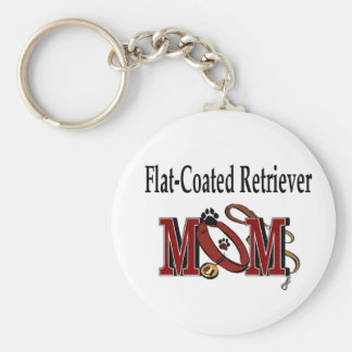 Flat-Coated Retriever Mom Gifts Basic Round Button Key Ring