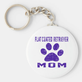 Flat-Coated Retriever Mom Gifts Designs Keychain