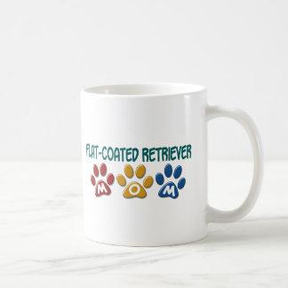 FLAT-COATED RETRIEVER Mom Paw Print 1 Coffee Mug