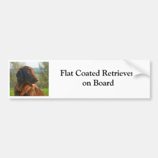 Flat Coated Retriever on board bumper sticker