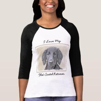 Flat-Coated Retriever Painting - Cute Original Dog T-Shirt