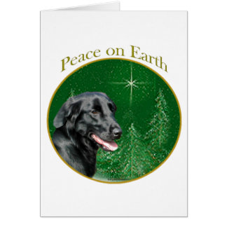 Flat-Coated Retriever Peace Greeting Card