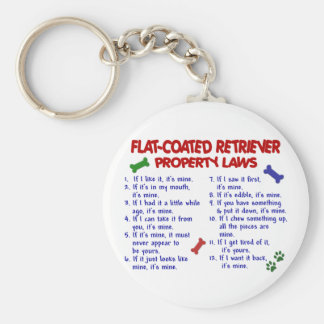FLAT COATED RETRIEVER Property Laws 2 Basic Round Button Key Ring