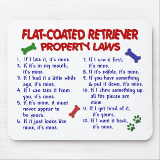 FLAT COATED RETRIEVER Property Laws 2 Mouse Mats