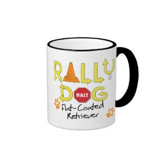 Flat-Coated Retriever Rally Dog Mugs