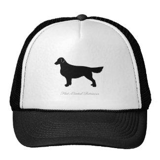 Flat-Coated Retriever silhouette Cap