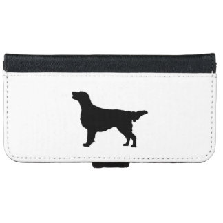 Flat-Coated Retriever Silhouette Love Dogs iPhone 6 Wallet Case