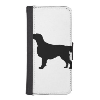 Flat-Coated Retriever Silhouette Love Dogs iPhone SE/5/5s Wallet Case