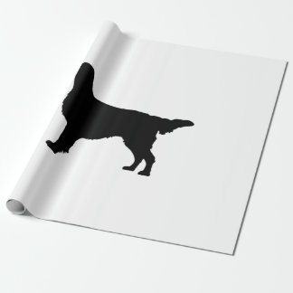 Flat-Coated Retriever Silhouette Love Dogs Wrapping Paper