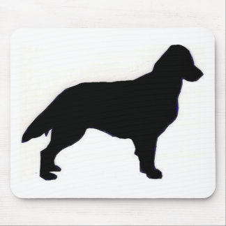 flat coated retriever silhouette mouse mat