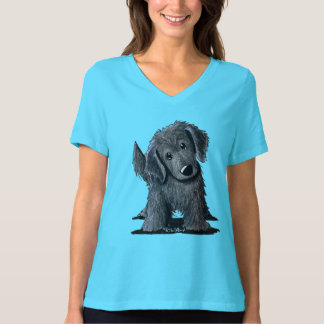 Flat-Coated Retriever Women's Bella V-Neck T-Shirt