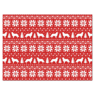 Flat Coated Retrievers Christmas Pattern Red Tissue Paper