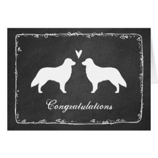 Flat Coated Retrievers Wedding Congratulations Card