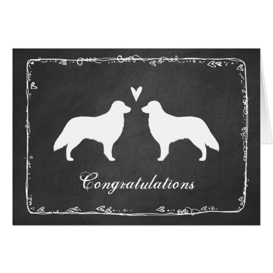Flat Coated Retrievers Wedding Congratulations Card