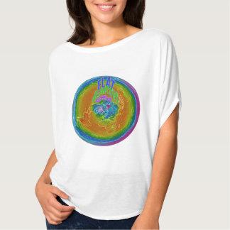 "Flat Earth Art women""s flowy top T Shirts"