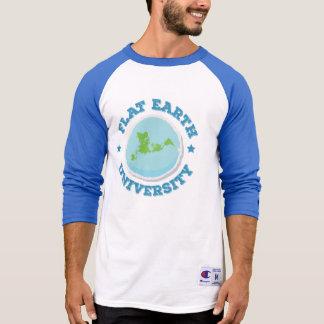 Flat Earth -- Baseball Jersey T-Shirt