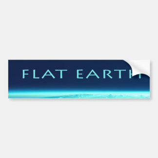 Flat Earth bumper sticker