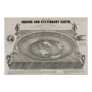 """Flat-Earth"" by Orlando Ferguson in 1893 Poster"