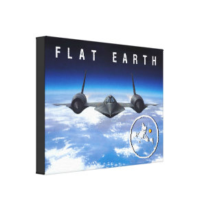 Flat Earth -- Canvas 14 x 11
