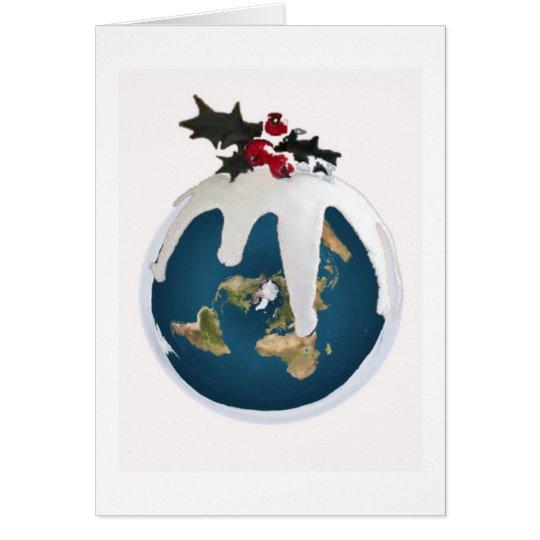 Flat Earth Christmas Card