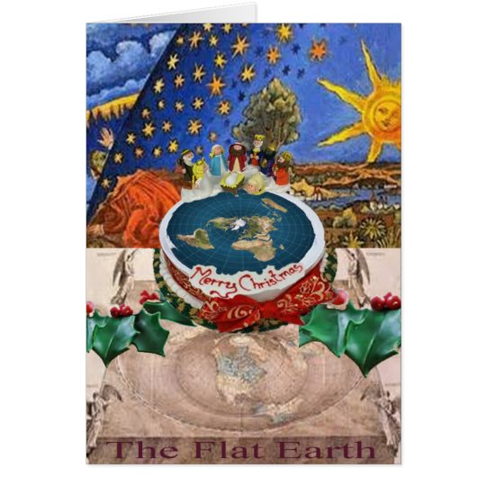Flat Earth Christmas Card