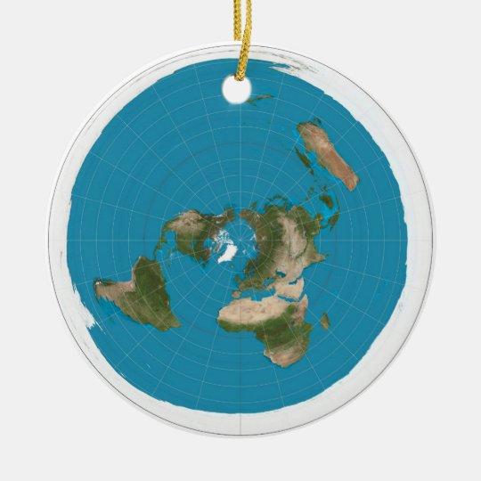 flat earth christmas ornament