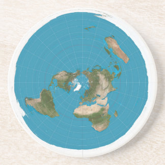 flat earth coaster