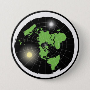 Flat Earth Design Button