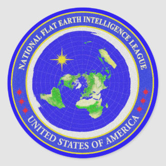 Flat Earth Designs - Intelligence League USA Classic Round Sticker