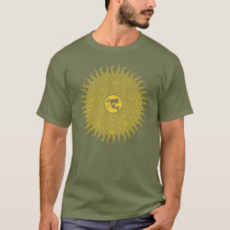 Flat Earth Favorite Map Sun Logo T-Shirt
