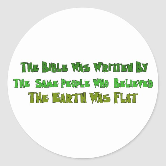 Flat Earth Historians Classic Round Sticker