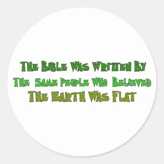 Flat Earth Historians Round Sticker