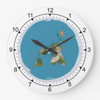 Flat Earth Large Wall Clock