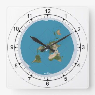 Flat Earth Map Disk Clock